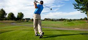 man-golfing