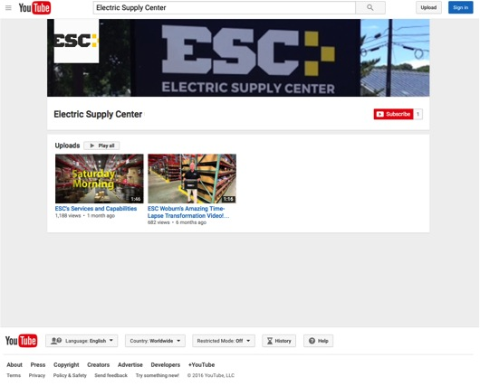 ESC's Youtube Channel | Electric Supply Center ESC