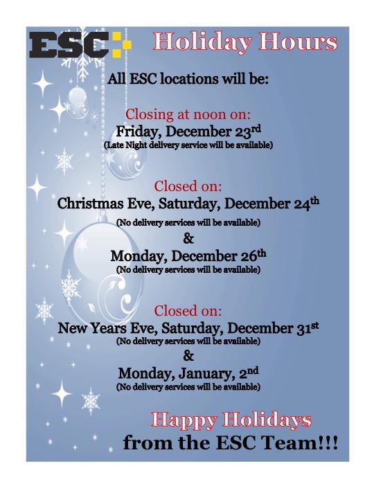 esc-holiday-hours