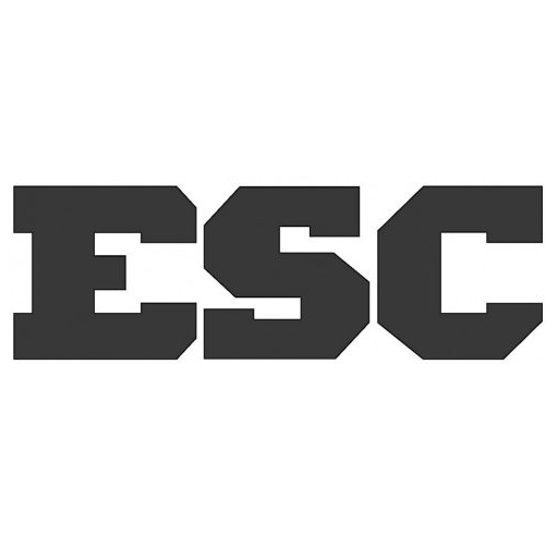 ESC logo in bold black lettering