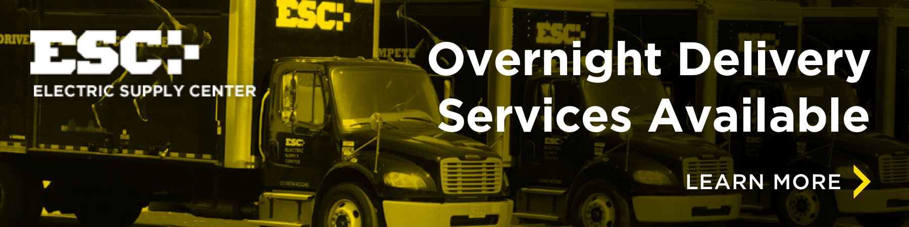 ESC's trucks with overnight delivery services available