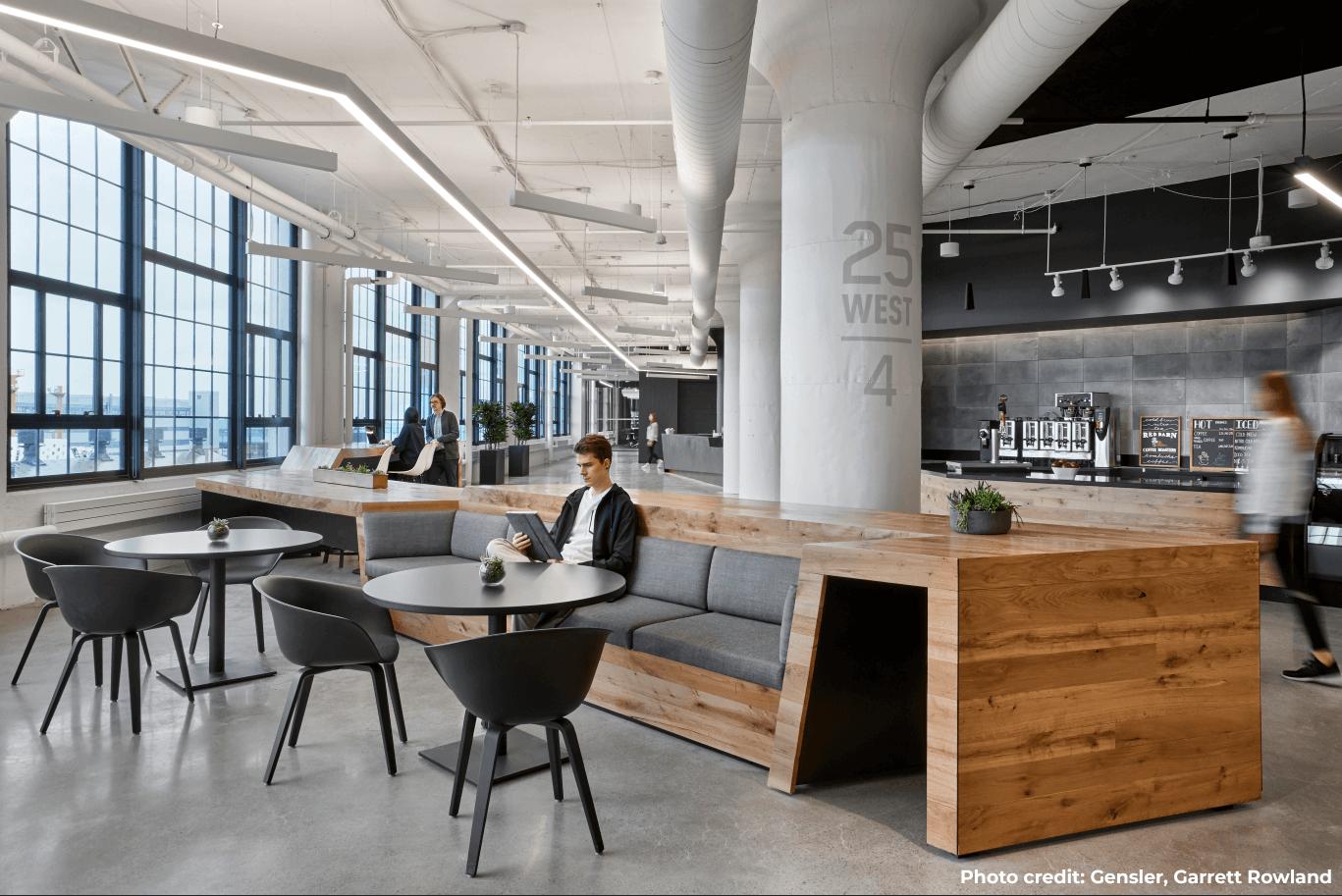 modern looking office space in Boston